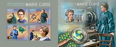 CA14112ab Central Africa 2014 Marie Curie MNH SET