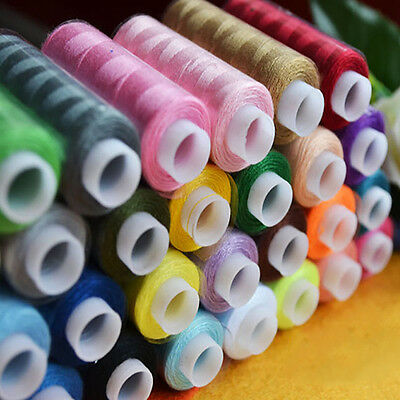 30 Spools Assorted Colorful Polyester Sewing Quilting Threads Multi All Purpose