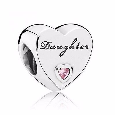 PANDORA CHARM Daughter's Love Charm 791726PCZ Pandora Authentic Genuine