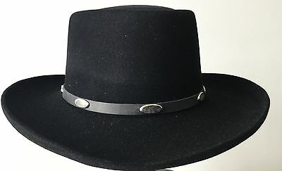 Stetson Royal flush100% Wool M/ 57cm Special USA made classic formal Lifestyle