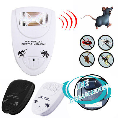 Electric AU Plug In Ultrasonic Pest Insect Control Rat Mouse Mole Bugs Repeller