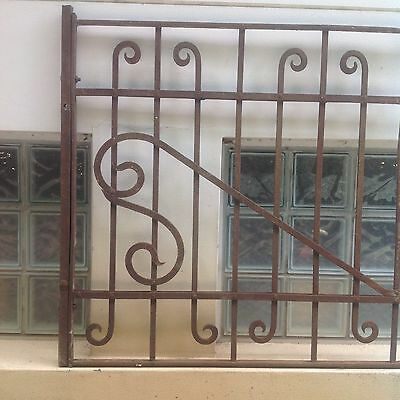 Wrought iron used rustic grille 110 x 98cm GREENWICH Sydney