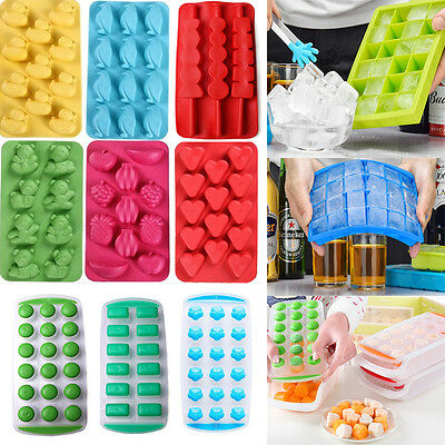 53 Styles Silicone Ice Cube Tray Freeze Bar Jelly Pudding Chocolate Mold Maker
