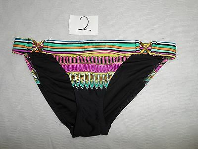 705fc54499 Trina Turk Plumas Buckle Side Hipster Bikini Bottom ONLY Multicolor SIZE  2-NWOT