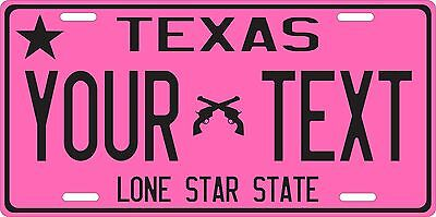 Texas License Plate,  Custom Auto Car Bike Bicycle Tag,  Texas state vanity tag