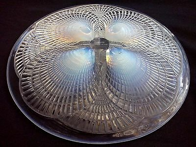 Art Deco Rene Lalique Opalescent Coquille Shell Signed Plate France circa 1924