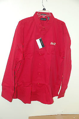 NEW! Coca Cola Dress Shirt  2XL Red with White Embroidered Logo