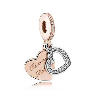 PANDORA Rose Gold Beloved Mother Pendant Charm 781883CZ Genuine Authentic