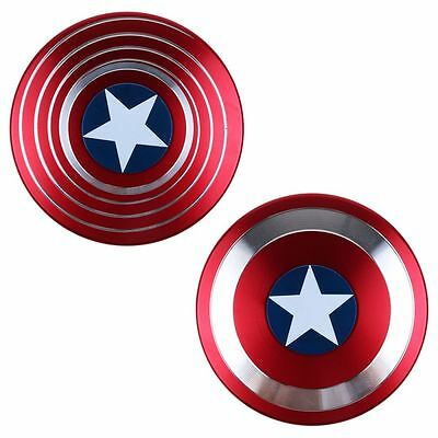Captain America Shield Fidget Hand Finger Spinner Stress Relief Focus Toys Gifts