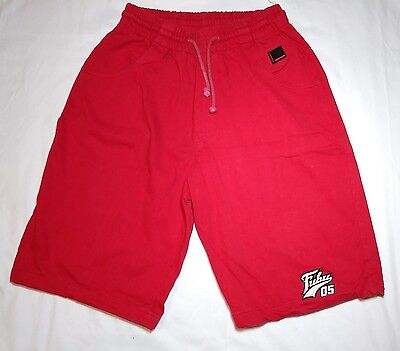Vtg FUBU Shorts Youth XL Mens S Xs 28-32 Red White Spell Out Hip Hop EUC 90s
