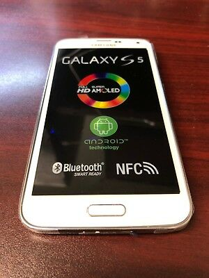 Samsung Galaxy S5 SM-G900A White At&t Smartphone GSM Factory Unlocked