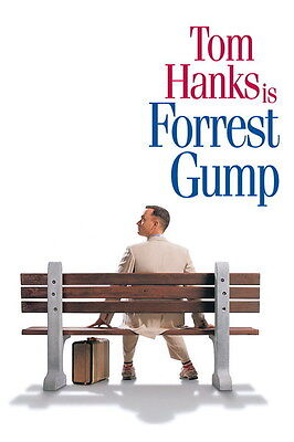"007 FORREST GUMP - Tom Hanks Classic USA Movie 14""x21"" Poster"