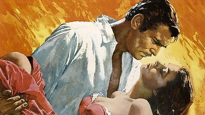 """007 Gone With The Wind - William Gable Classic USA Movie 24""""x14"""" Poster"""