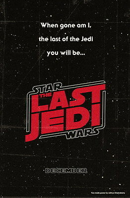 """009 Star Wars The Last Jedi - Daisy Ridley Action USA 2017 Movie 14""""x21"""" Poster"""
