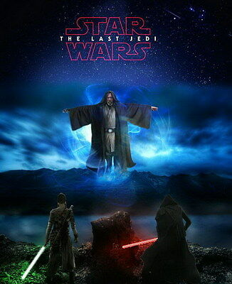 """008 Star Wars The Last Jedi - Daisy Ridley Action USA 2017 Movie 14""""x17"""" Poster"""