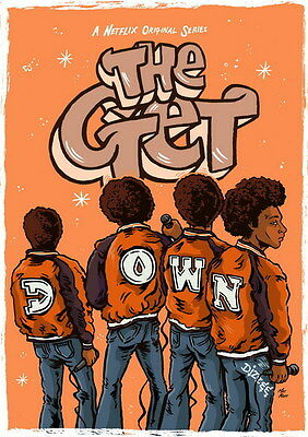 "012 The Get Down - Dance Music Season 1 USA TV Show 14""x19"" Poster"