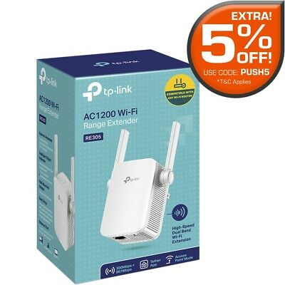 TP-Link RE305 AC1200 1200Mbps Dual Band Wireless Range Extender WiFi Booster