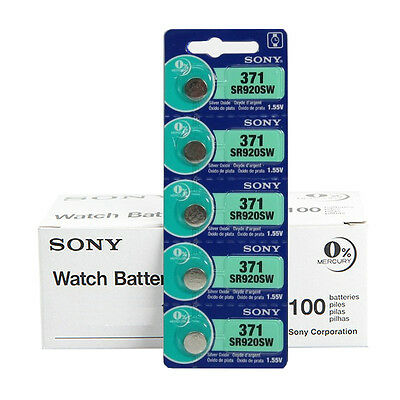 GENUINE Sony SR920SW 1.55V 0% Mercury Silver Oxide Battery (100pcs)