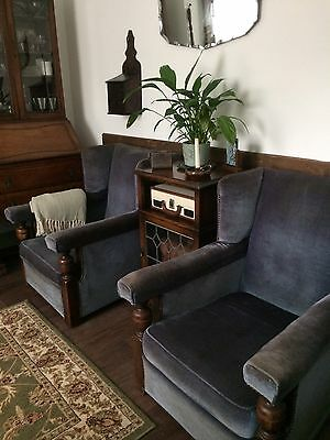 Pair Of 1930s / Art Deco Style Armchairs Club Cocktail Lounge Chairs