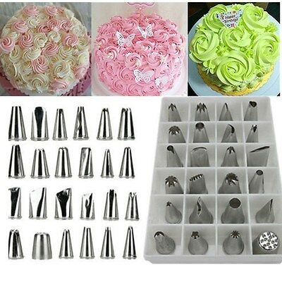 Russian Stainless Icing Piping Nozzles Cake Fondant Tip Pastry Decorating Tools