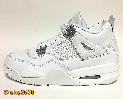 dc261560ec7775 AIR JORDAN 4 Retro Bp + Bg 11C-7Y White Silver Pure Money 308499-100 ...