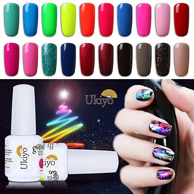 Ukiyo 15ml Soak Off UV Gel Nail Polish Gelpolish No Wipe Top Base Coat Nail Art