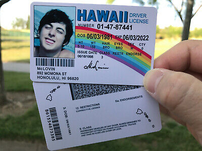 Customize (WITH YOUR IMAGE) McLovin ID Movie Superbad Fake Joke - EXPIRE 2020