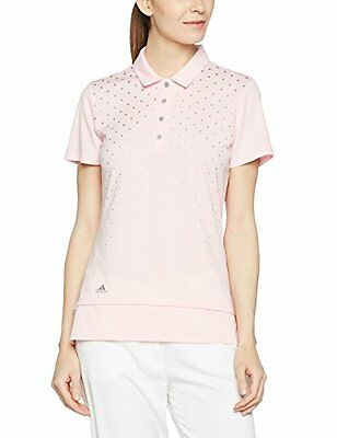 Adidas, polo a manica corta con stampa, donna, Printed, Rose Shadow, S (B9D)