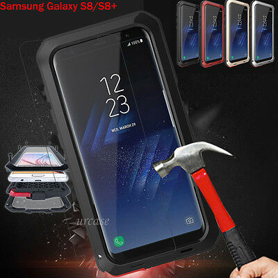 Shockproof Gorilla Glass Metal Heavy Duty Cover Case for Galaxy Note8, S8/S8+ US
