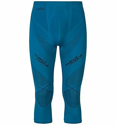 Odlo Evolution Warm Muscle Force Pa, Calzamaglia 3/5 Uomo, Verde (Verde (B4X)