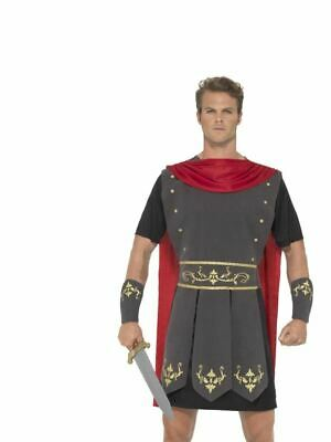 Mens Adults Roman Gladiator Warrior Fancy Dress Costume Outfit