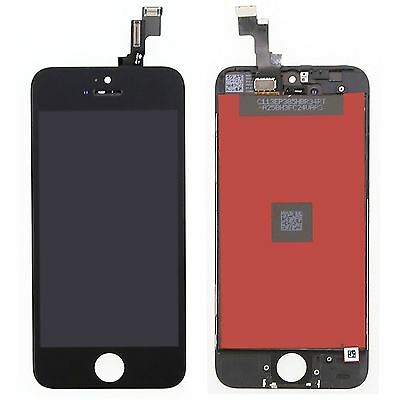 for iPhone 5s Black  Free Tools LCD Screen Touch Digitizer Assembly  Replacement