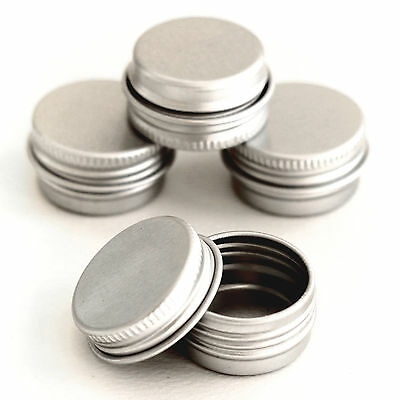 100 x 5ml Empty Cosmetic Pots Lip Balm candle Jar Aluminium Tins jda100