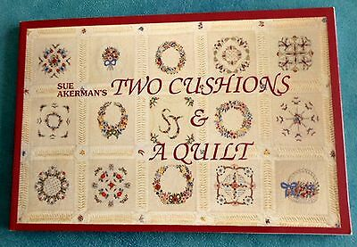 TWO  CUSHIONS  and a QUILT Complete Guide ~ 1994 SC Book by Sue Akerman GC