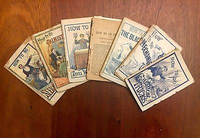 "7 ""How To"" Magic Books Published by Frank Tousey, Scarce! 1890's-1902"