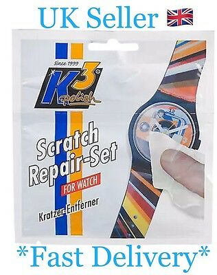 WATCH Restorer K3 Polish Scratch Remover Repair Set 2ml Sachet & Cloth UK SELLER