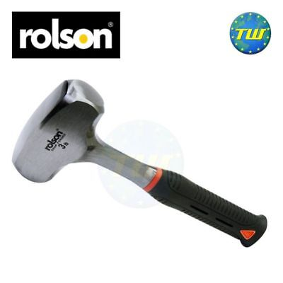 Rolson Heavy Duty 3lb Mini Short Rubber Shaft Solid Forged Club Hammer Mallet