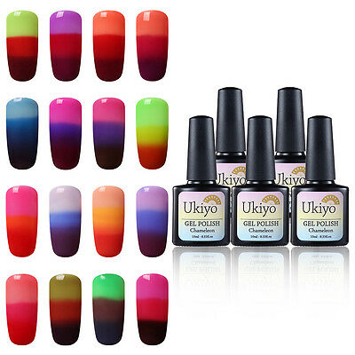 Ukiyo 10ml Gel Polish Temperature Changing Color Chameleon Thermal Top Base Coat
