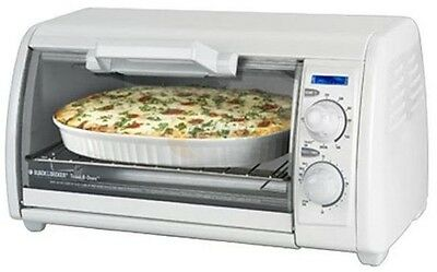 Toast-R-Oven 4-Slice Countertop Toaster Oven Dial Temp Control in White
