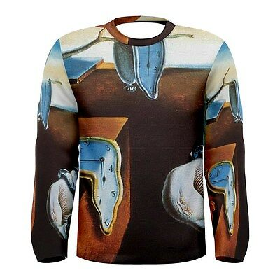The Persistence of Memory by Salvador Men/'s Long Sleeve T-shirt S,M,L,XL,2XL,3XL