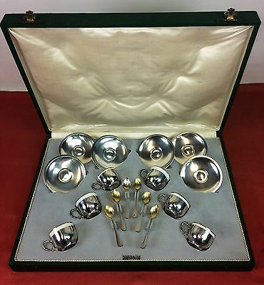 Set Of Coffee Of 6 Services. Sterling Silver. Vachier-Pallé. Spain. Circa 1900