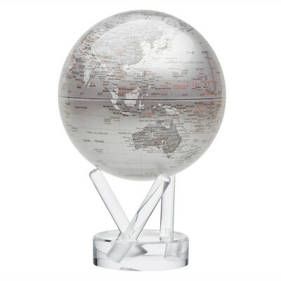 NEW Mova Small Silver Spinning Globe