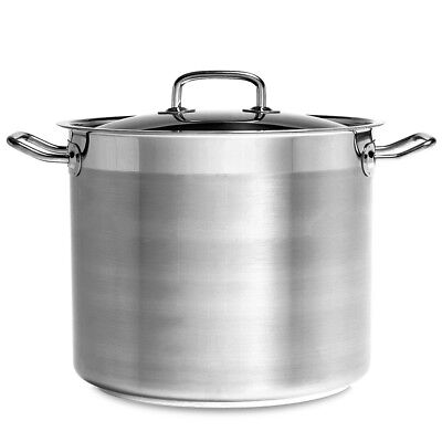 NEW Chef Inox Professional Stockpot with Lid 24cm/9L