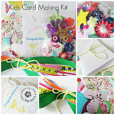 Card Making Kit for Girls, Boys, Kids Holidays Craft Activity Birthday Christmas
