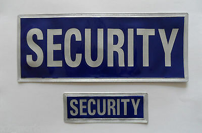 New Encapsulated Reflective sew on SECURITY badge. Large and Small sizes - SIA