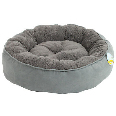 Me & My Super Soft Round Grey Donut Pet Bed Cat/kitten/dog/puppy Warm/snug/cosy