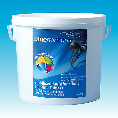200g Multifunctional Chlorine Tablets Swimming Pool Spa Hygiene Chemicals 2kg