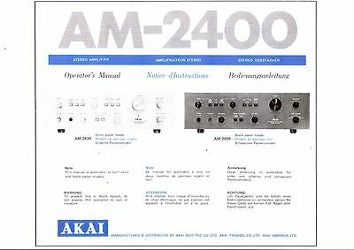 Akai  Bedienungsanleitung user manual operator´s manual für AM- 2400