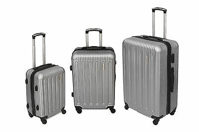 Tassia Lightweight 4 Wheel ABS Hard Shell Luggage Suitcase Trolley Case 3 Pc Set