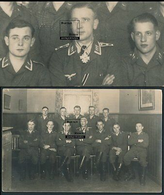 Foto 2.WK Luftwaffe Feldwebel mit Orden Halskreuz am Band & Soldaten in Uniform
